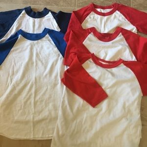Boys' baseball shirts bundle. Sz S
